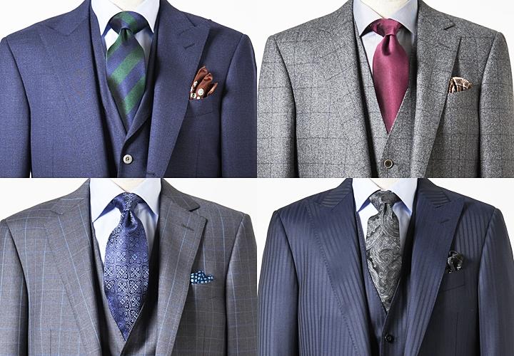 スーツ×ネクタイ×シャツ