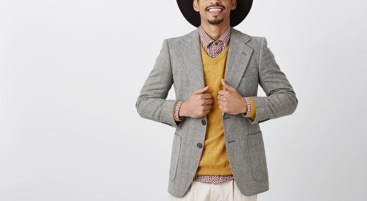 グレージャケットは、「身幅・袖の長さ」が大切