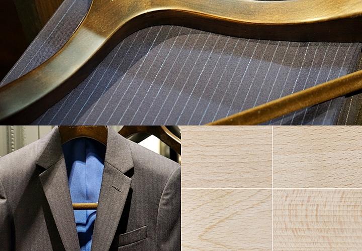 ハンガーの種類と素材:木製のハンガー