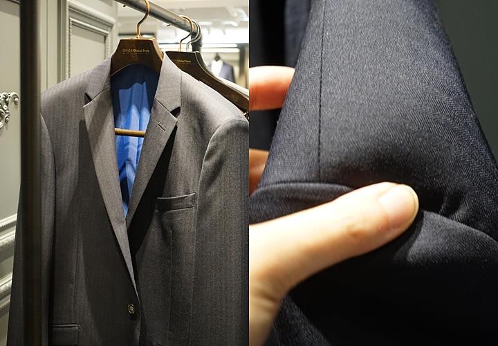 スーツ用ハンガーの大きさによって、部分によって出っ張る