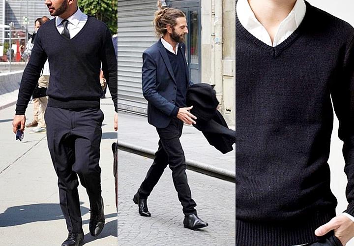 季節別で見るスーツのインナーと着こなし:秋冬スタイル セーター・ニット