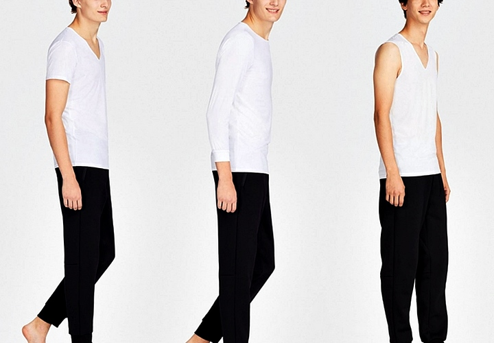 インナーの種類・デザイン:①半袖 ②長袖(七分・九分袖) ③タンクトップ ④ノースリーブ