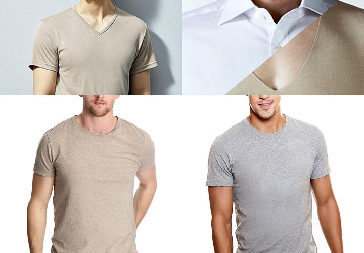 """ワイシャツのインナーは白、ベージュやライトグレーなど、""""ワイシャツから透けないような色"""""""