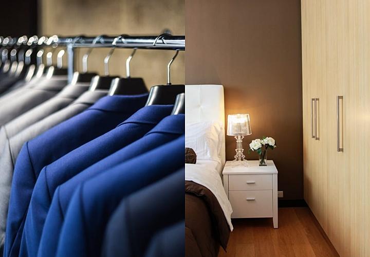 スーツは、風通しの良い部屋で陰干し