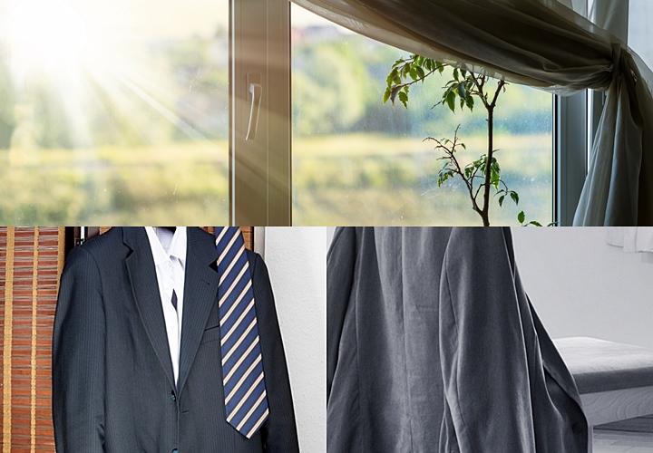 スーツのお手入れ方法,風通しの良い場所
