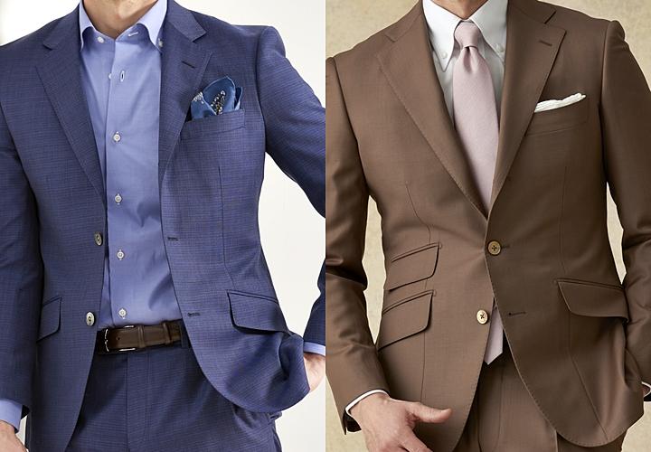 ビジネスシャツ,ボタンダウンシャツのスーツ着こなし