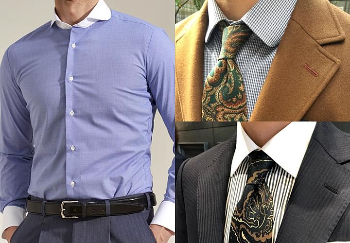 ビジネスシャツ,襟型,クレリックシャツ,ラウンドカラーシャツ
