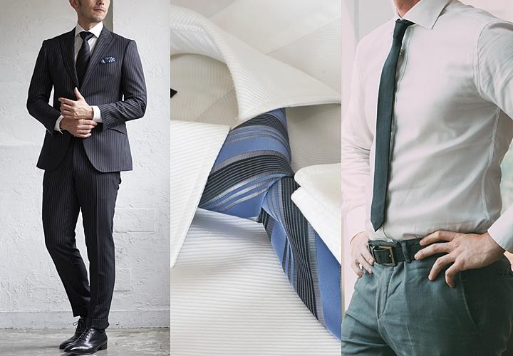 ビジネスシーンでネクタイと合わせる