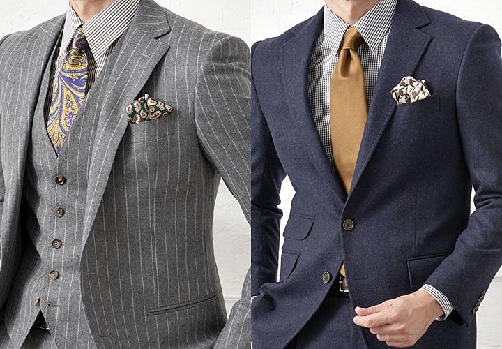 ビジネスシャツ,レギュラーカラーシャツのスーツ着こなし