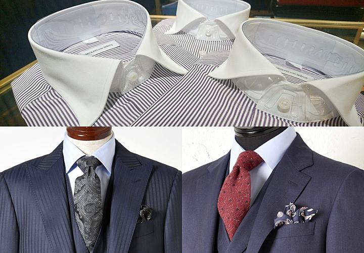 ビジネスシャツ,襟型,ワイドカラー