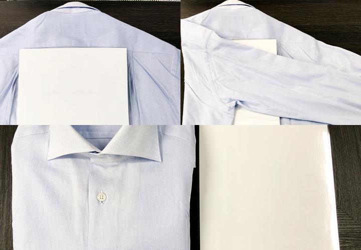 台紙を使用したワイシャツのたたみ方