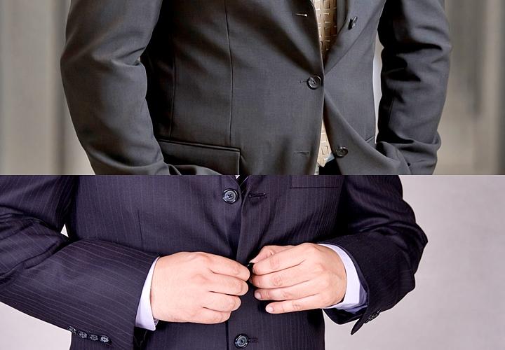 3ef8fab70397f まずはじめに、三つボタンスーツは、少し昔に流行ったスタイルになります。その名の通り、一列に三つのボタンが並んでいるのが特徴です。