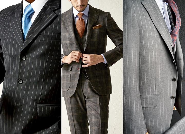 c282a8b6aaff7 今、三つボタンのスーツというと、段返りスーツを指すことがほとんどとなります。どちらも、ボタンの留め方や着こなし方によって印象が大きく変わってきます。