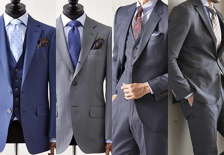 ネイビー・グレーのスーツスタイル