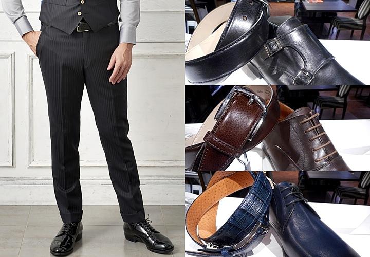 ベルトと靴の合わせ方 ブラック靴