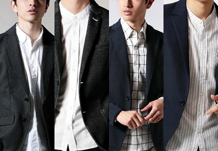 シャツ×ジャケット