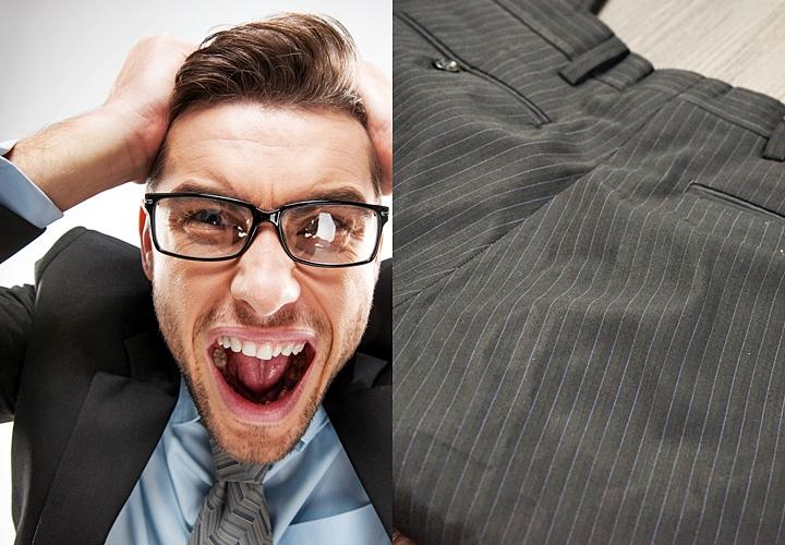 スーツのテカリ パンツのテカリ
