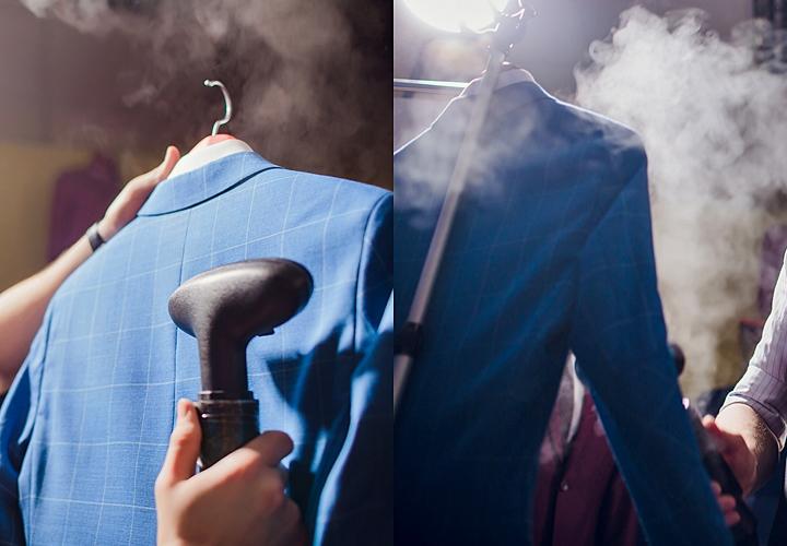 スチームアイロンを使用したスーツのテカリの取り方