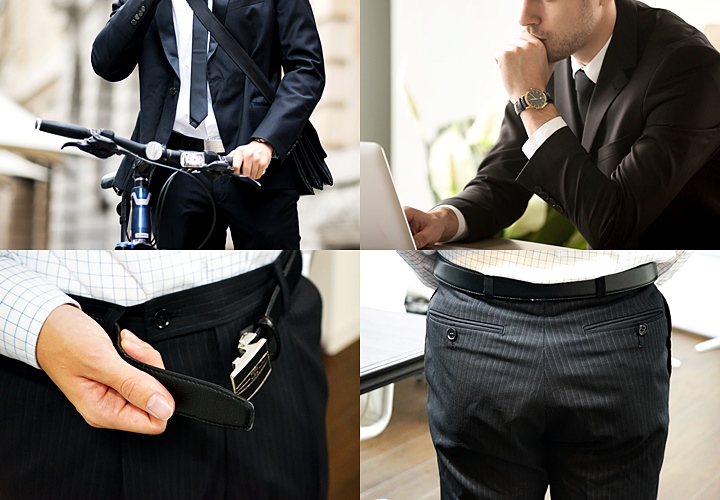 スーツのテカリの原因 自転車 デスクワーク 腰回り