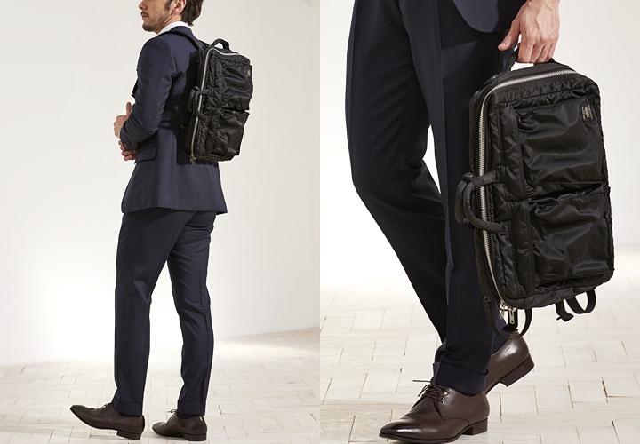 スーツに合うビジネスリュック,ネイビースーツ