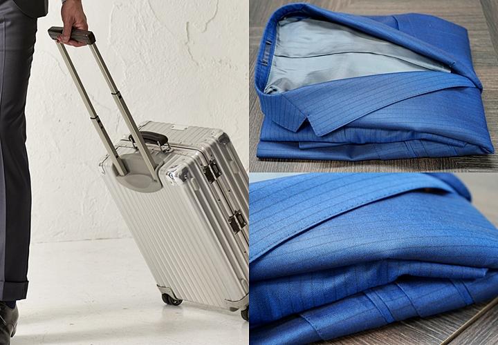 スーツの持ち運び,スーツケース(バッグ),たたみ方