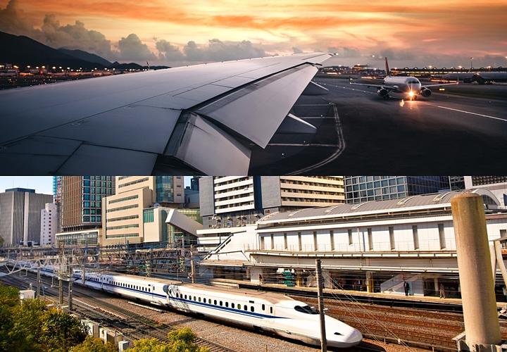 スーツの持ち運び,飛行機,電車,車