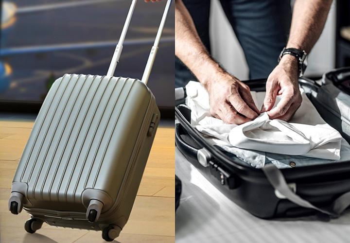 スーツの持ち運び,スーツケース,他の荷物とのバランス