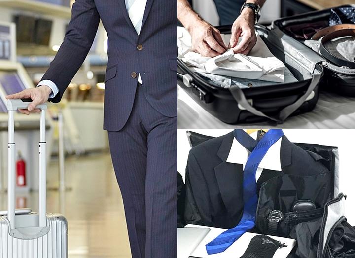 スーツの持ち運び,出張時,バッグやたたみ方