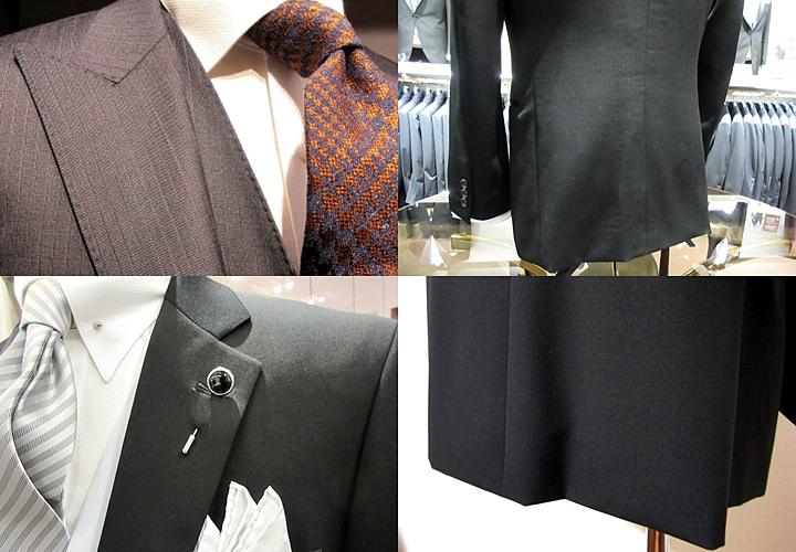 メンズの礼服,,スーツのデザイン,ステッチ,ベント