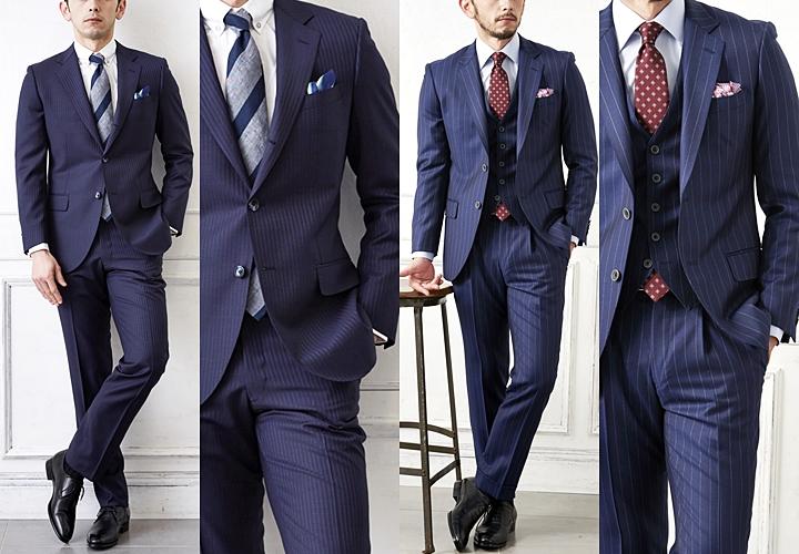 ネイビースーツ,ビジネスシーンの着こなし