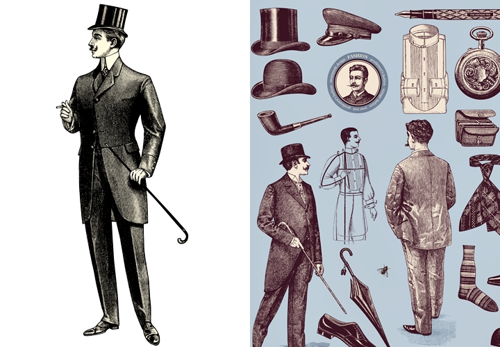 英国紳士の在り方,スーツの原型,ラウンジスーツ