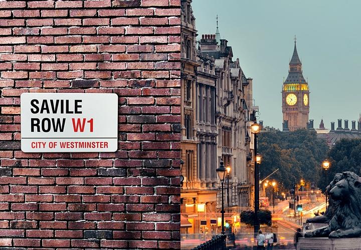 英国紳士,ロンドンにあるサヴィル・ロウ