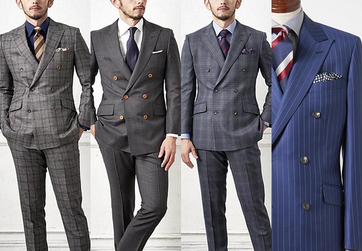 英国紳士,紳士らしいダブルスーツ,チェック柄