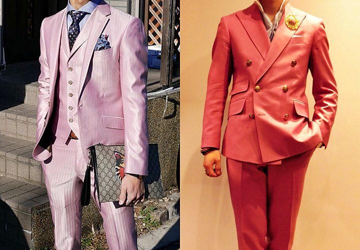 ピンクスーツ,成人式,華やか,ダブル