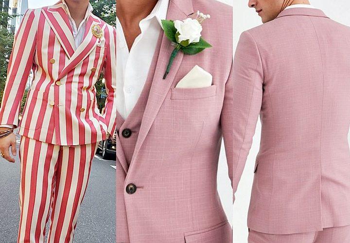 ピンクスーツ,結婚式(二次会・パーティー),ストライプ