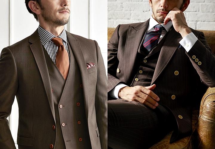 スーツの裏地,ブラウンスーツ