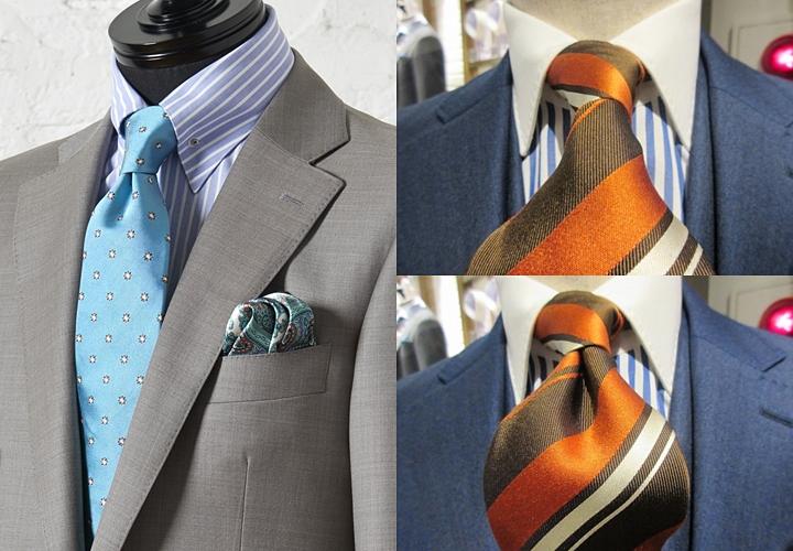 ネクタイのディンプル,作り方