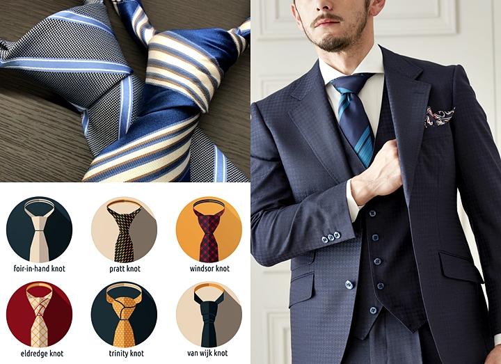 ネクタイの結び方・種類!~ビジネス・結婚式でのオシャレな結び方とは~