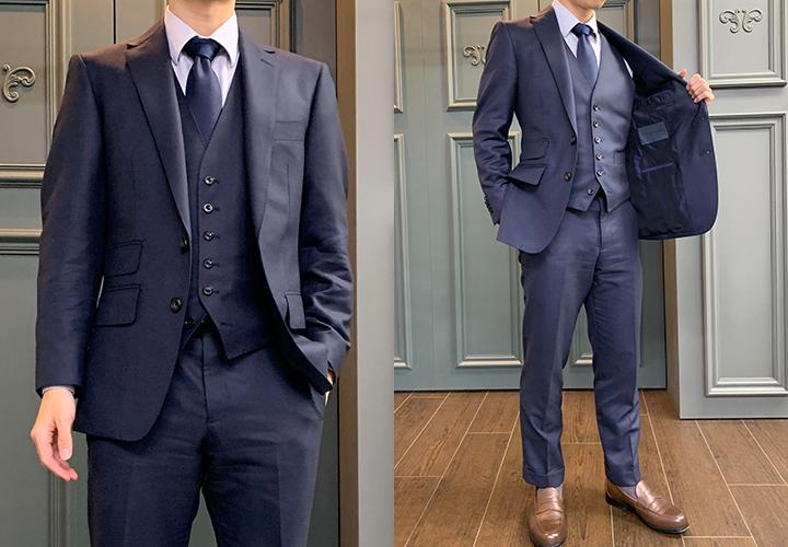 オーダスーツ専門店グローバルスタイルの仕上がりスーツ