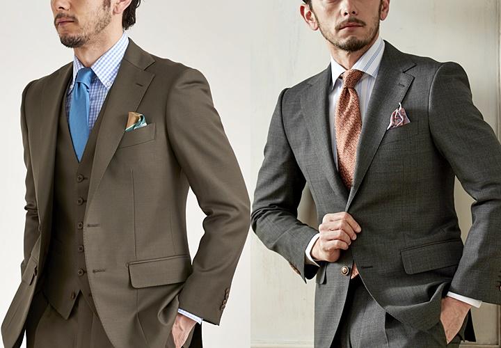 カーキ(グリーン)スーツ,お洒落で個性的なカーキ