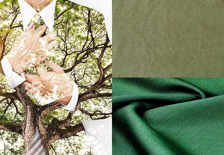 カーキ(グリーン)スーツ,印象と色味
