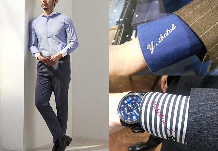 ワイシャツのオーダー,体型補正,色柄・素材・襟型・カフスのデザイン