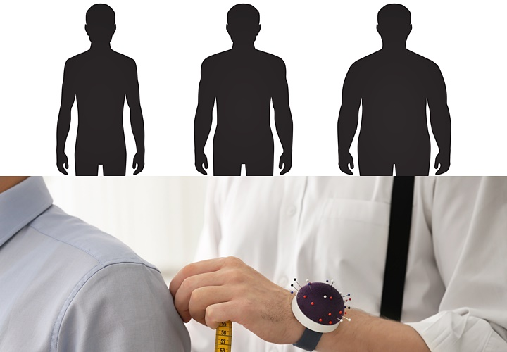 ワイシャツのオーダー,おすすめ,体のパーツ
