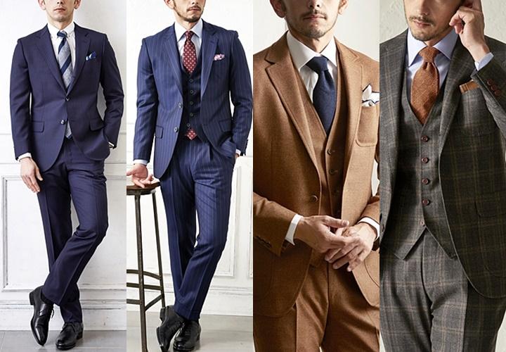 スーツとセーターのコーディネート,ビジネススーツとの比較