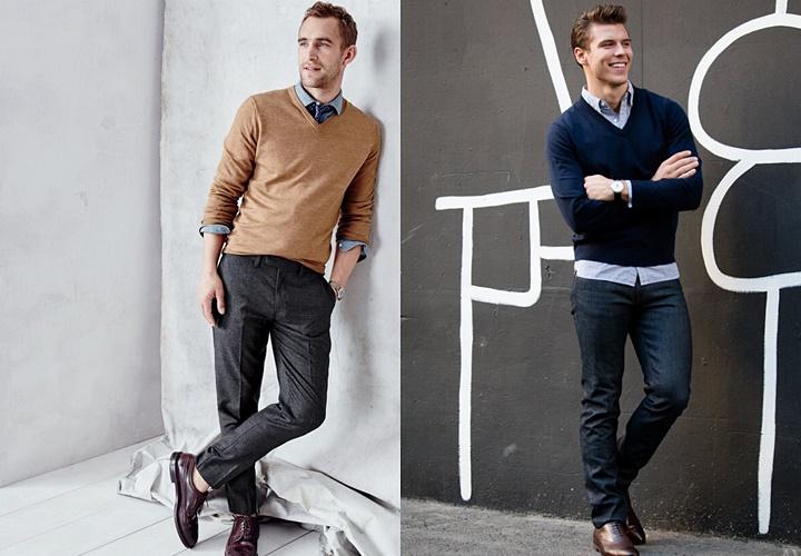 ニット(セーター),メンズ,コーディネート例
