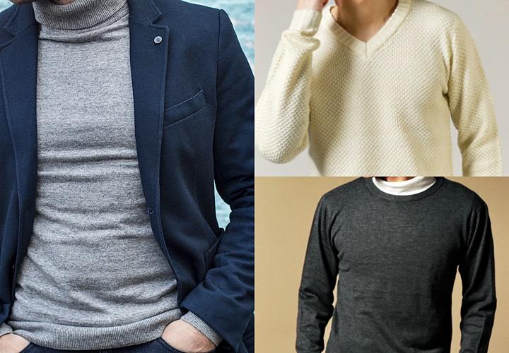 ニット(セーター),メンズ,コーディネート,カジュアル