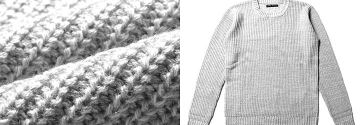 ニットとセーターの違い,▲左 ⇒ニット(生地) 右 ⇒セーター(衣類)▲