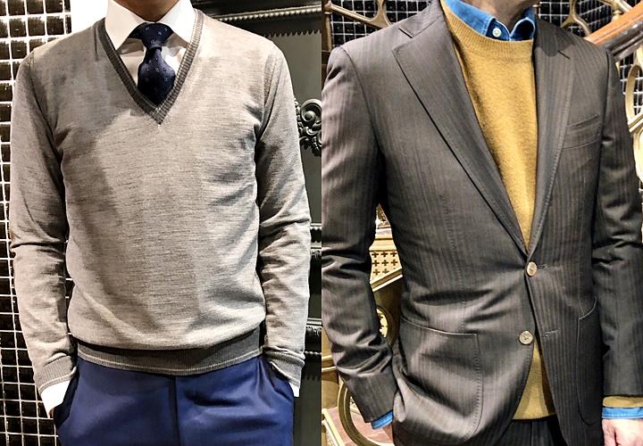 ニット(セーター),デザインの違い,首元の開き
