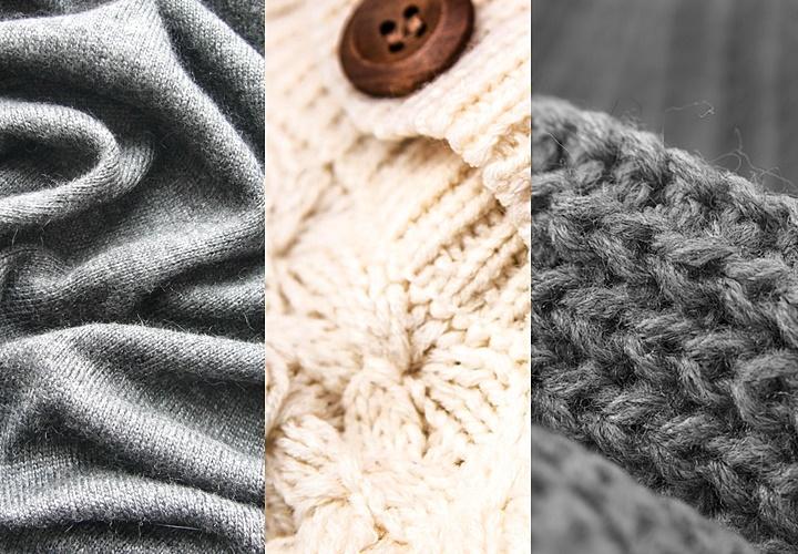 ニット(セーター),▲左から ⇒ハイゲージ⇒ミドルゲージ⇒ローゲージ▲