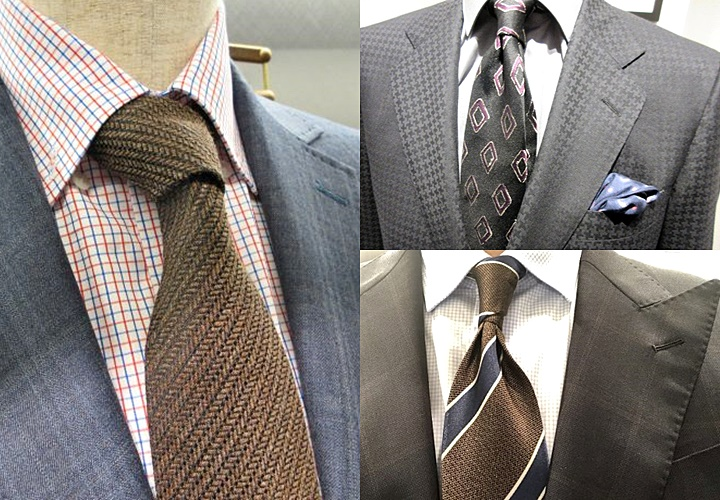 ネクタイを綺麗に見せるディンプル
